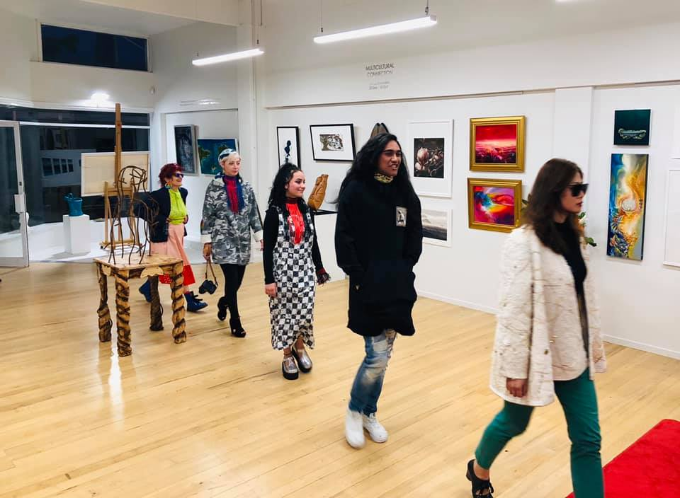 Fashion Show at the 'Multicultural Connection' Exhibition Event by High St Boutique, Sep 2019.