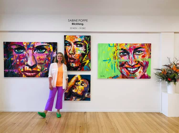 Sabine Poppe at 'Blickfang' Exhibition, November 2019