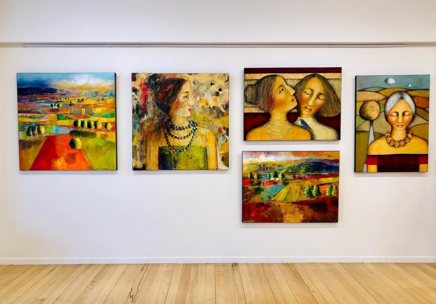 """Dalene Meiring - """"Journeys' Exhibition that started in our gallery at 117 Willow Street, Tauranga on the 20th March continues as an ONLINE EXHIBITION.   Our physical gallery is closed until further notice due to national Lock-down. Stay safe & Keep in touch."""