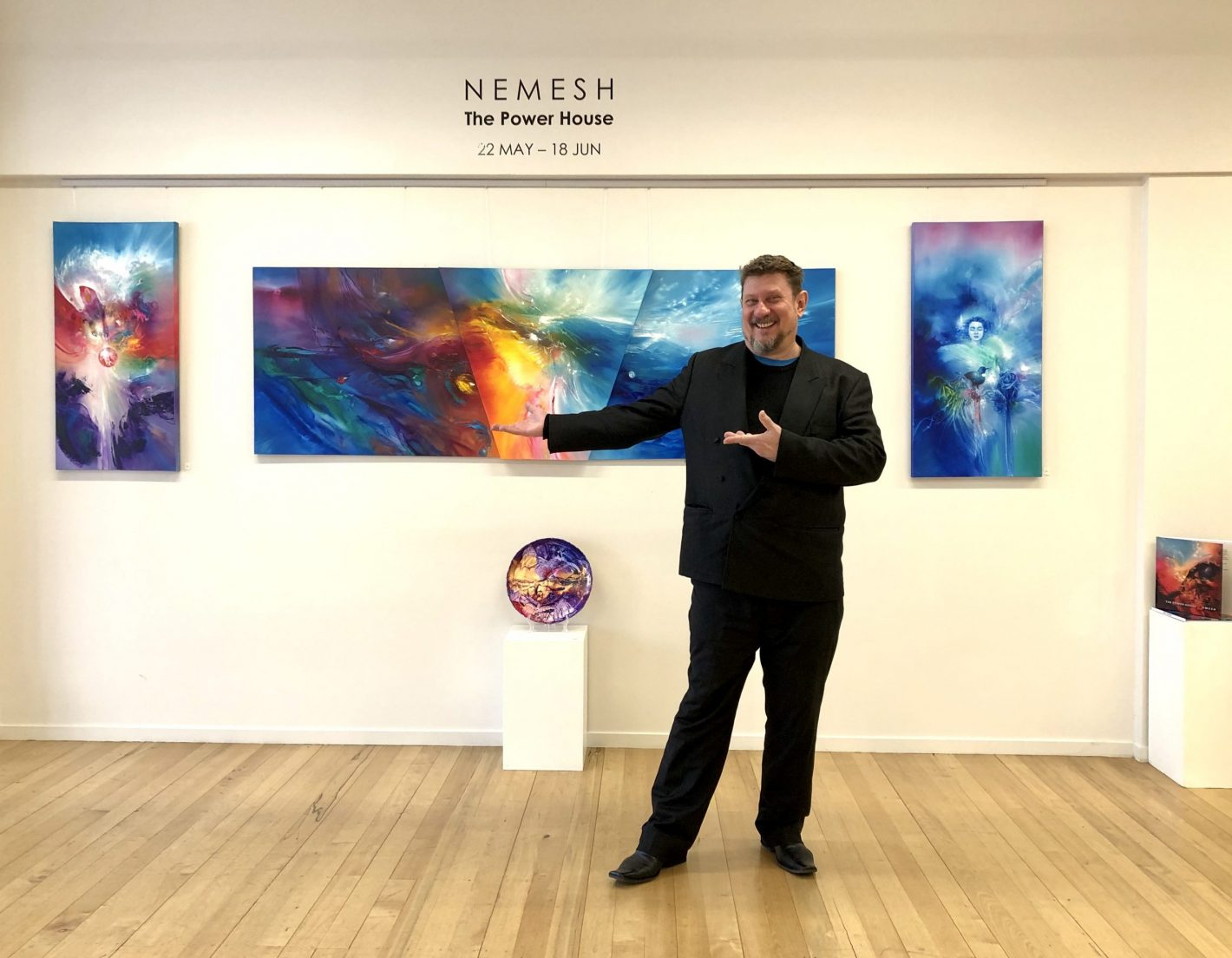 Nemesh at the Power House Exhibition Opening, May 2020.