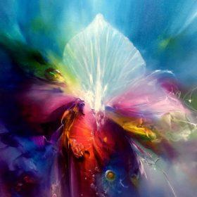 Vjekoslav Nemesh, Erternal Blossom, oil on canvas, 101cm x 101cm, $4900.00