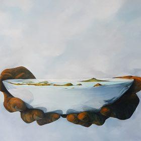 Amanda Hewlett, Beyond the Known, Acrylic on canvas, 91cm x 101 cm, $6,500