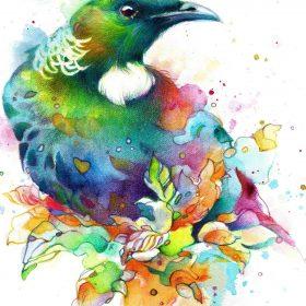 Darina Denali, TUI, watercolour on A4 Fabriano art paper, unframed. $399