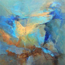 Doreen McNeill, Sunburst, acrylic on canvas, 101cm x 101cm, $3500.00