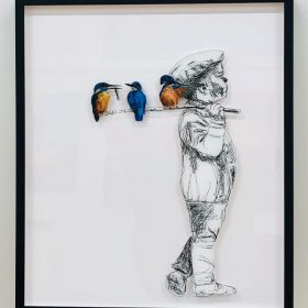 Lisa Grennell, Fisherman, limited edition of 10 prints on perspex, in black frame, 70cm x 60cm, $1600