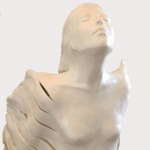 Mariska de Jager, Hope, ceramic light, H 50cm W 30cm, detail 1