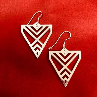 Silver Aronui Earrings by Banshee the Valkyrie $265
