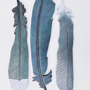 Claire Jensen, Rimu wood carving TUI -  feathers. From small $260. Enquire for sizes and prices.